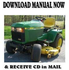 1999 John Deere 425 Lawn Tractor Factory Service Repair Manual on Cd