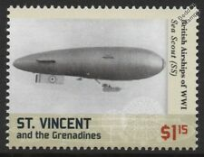 WWI British SS-Class (Submarine Scout / Sea Scout) Airship Blimp Stamp
