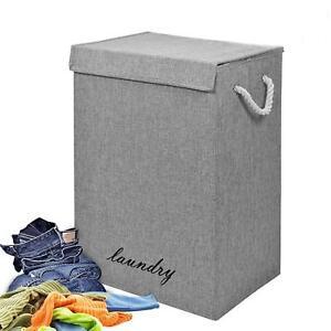 Laundry Basket Dirty Washing Clothes Storage Folding Bin Bag Hamper With Lid