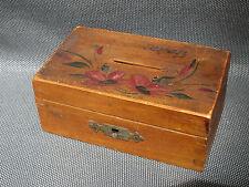 Ancienne petite boite en bois tirelire souvenir d'Izeron boite à bijoux old box