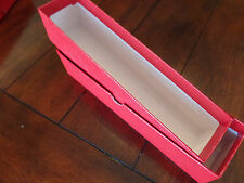 4 New Red Cardboard Storage Box 2x2x9 for 2x2 Coin Holders Flips Boxes 9x2x2