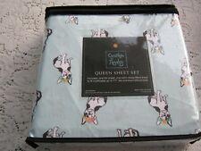 Cynthia Rowley 🐾French Bulldog Boston Terrier  🐾 4 Piece Queen Sheet Set