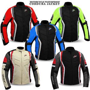 Mens Motorcycle Waterproof Cordura Textile Jacket Motorbike CE Armours