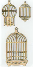 Kaiser Craft Wood Flourishes cages à oiseaux formes NEUF FL302 D