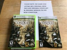 The Lord of the Rings Conquest Xbox 360 Original Case Cover Art Manual NO GAME
