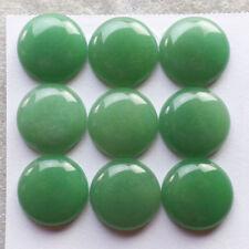Inusual Redondas de cabujón de 15mm-Cut Natural Piedra preciosa Aventurina Verde £ 1! sin precio de reserva!