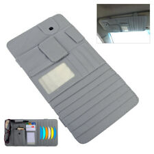 Grey Sun Visor 2 in 1 Paper Tissue Box CD DVD Holder Bag Pocket Car Accessories