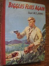 BIGGLES FLIES AGAIN by Capt.W.E.Johns..Large format,1950's.Illustr.J.E.McConnell