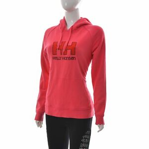 Helly Hansen Femmes Poche Capuche Graphique Pull Sweat Manches Longues Rose L