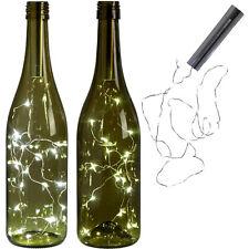 20 LED Bright White Bottle Light Kit Fairy Lights Battery Top Wedding Decoration