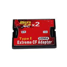 2Port Mikro-Sd TF SDHC Typ 1 Compact Flash Card Reader CF Adapter Kartenleser DE