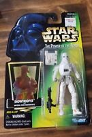 1997 STAR WARS POWER OF THE FORCE SNOWTROOPER w/imperial issue blaster rifle