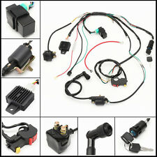 Complete Electric Start Engine Wiring Harness Loom 110 125cc Quad Bike ATV Buggy