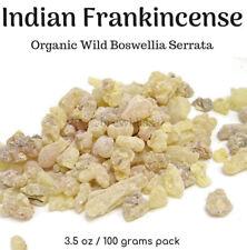 Indian Organic Wild Frankincense Boswellia Serrata Aroma Resin Tears Incense 100