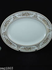 WEDGWOOD GOLD COLUMBIA 14 INCH OVAL SERVING PLATTER