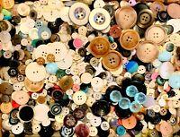 BUTTONS! HUGE Lot TWELVE POUNDS Vintage Sewing Buttons 12lb Estate Mix  12PD7