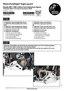 NEW HEPCO & BECKER ST/STEEL ENGINE PROTECTION BARS HONDA CRF1100 ADV SPORT 2020>