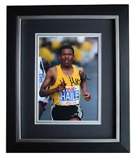 Haile Gebrselassie Signed 10x8 Framed Photo Autograph Display Athletics Coa