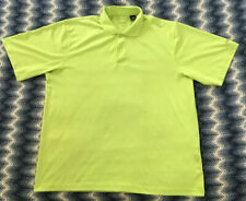 IZOD Cool FX Series Neon Green Polyester Golf Shirt - Large