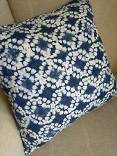 """REVERSIBLE Blue Tie Dye Style Print Fabric Cushion Cover 16"""""""