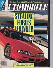 May 1989 Automobile Grand Prix Turbo T-Bird Super Coupe Acura NS-X Pathfinder SE