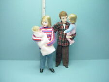Miniature Family of Four #10974C Dollhouse. Dolls, Handcrafted Erna Meyer