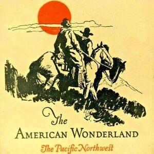 1927 Burlington Route American Wonderland Booklet Yellowstone Glacier Park NW 3A