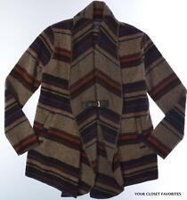 Fenn Wright Manson Womens M Wool Blend Shawl Collar Buckle Cardigan Southwestern