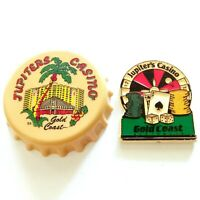 Jupiter's Casino Magnets - VINTAGE SOUVENIR MAGNETS Bottle Cap & Jackpot Magnets
