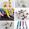 4 Colour Ribbon Clip Crimp Ends Beads Clasps Connectors Cord Tips Clamps Finding