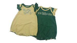 Bib and Bootie Set Infant Set Outerstuff South Florida USF Bulls Creeper