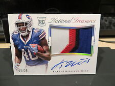 National Treasures Rookie Autograph Jersey Bills Karlos Williams 09/25  2015