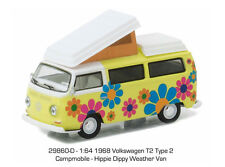 GREENLIGHT 1:64 V-DUB SERIES 4 set of 6 Volkswagen T2 Type 2 Campmobile 29860D