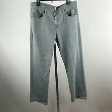 7 For All Mankind Carsen Mens Gray Straight Leg Jeans Size 36 x 28 Cotton Blend