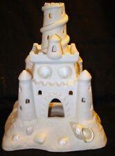 Sand Castle Tea Light Votive Holder Partylite P7306 Porcelain Bisque Shell Beach