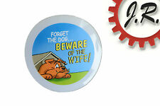 Humorous Cling Sticker 'FORGET THE DOG...BEWARE OF THE WIFE!' - 10CM