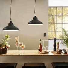 vidaXL 2x Hanging Lamps Grey Round 35cm E27 Kitchen Ceiling Pendant Lights