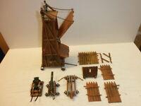 Hausser Elastolin Belagerungsturm Mörser Festungsgeschütz Katapult usw. zu 4cm