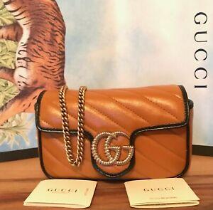 Gucci GG Marmont mini chain Bag in leather