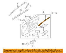 Infiniti NISSAN OEM 10-13 G37 Front Door-Trim Molding Right 809221NF2E