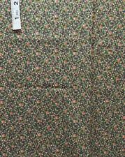 Pink,Tan Floral 'Fancy Free' Print Cotton Quilt Fabric,Thimblerries,RJR Fabrics