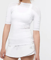 Adidas Warp Knitted White Slim Tee Ladies UK 8-10 (S) *Ref95