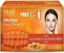 VLCC Papaya Fruit Facial Kit for Glowing & Blemish free skin Salon Series300gm