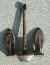 Vintage Cast Iron 10 lbs. Boat Anchor Nautical Maritime Garden Swivel Two Piece