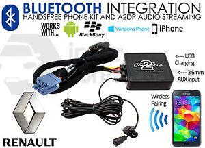 Renault Twingo Bluetooth adapter music streaming handsfree calls CTARNBT003 AUX
