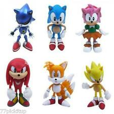 Sonic the Hedgehog Playset 6 Figure Cake Decoration Set Topper Toy Doll** USA***