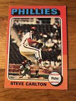 1975 Topps Steve Carlton Philadelphia Phillies #185 Baseball Card