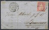Switzerland 1872 Used 100% Helvetia seated, 10 C, BRUNWEN