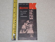 KEYSTONE 8MM MOVIE CAMERAS AND PROJECTORS NEW FOR 1957 BROCHURE FLYER AD