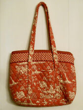 Country Provencal Quilted Hand Bag Tote Purse RARE Marilyn Slass Red Asian Print